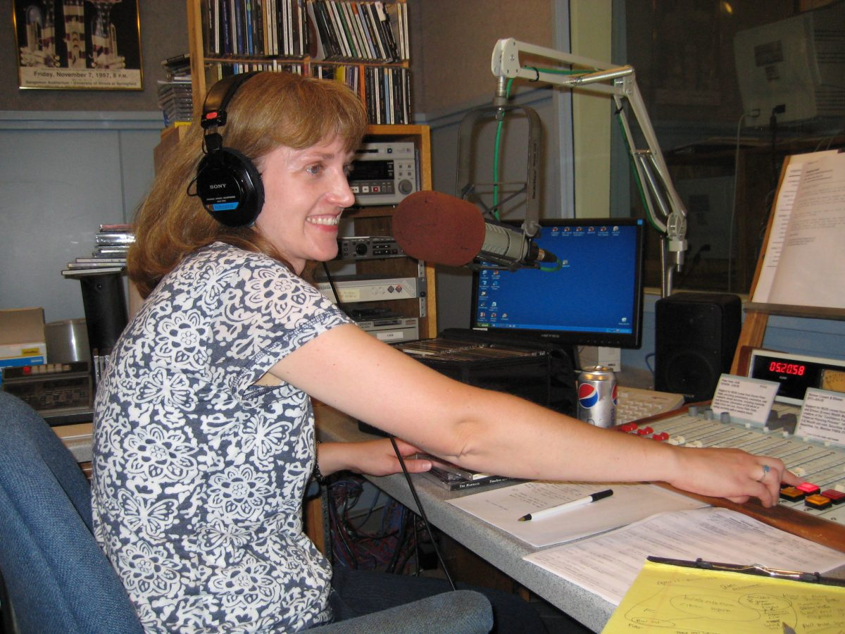 Chemistry Professor Jennifer Ramm has a second job: radio show host. Since 2001, the full-time Lincoln Land science teacher has taken to the airwaves from 6 to 8 p.m. to host Bluegrass Breakdown on NPR Illinois. It can be heard at 91.9 FM or WUIS.org. (Submitted photo)