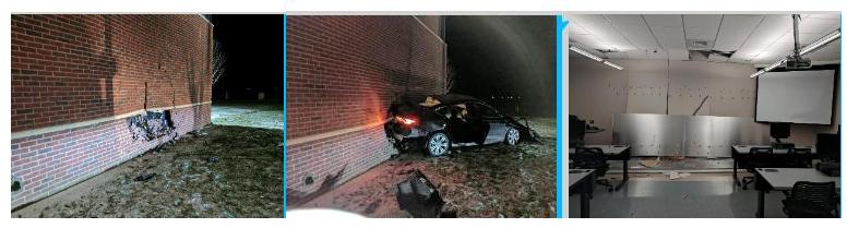 Crash at Taylorville campus