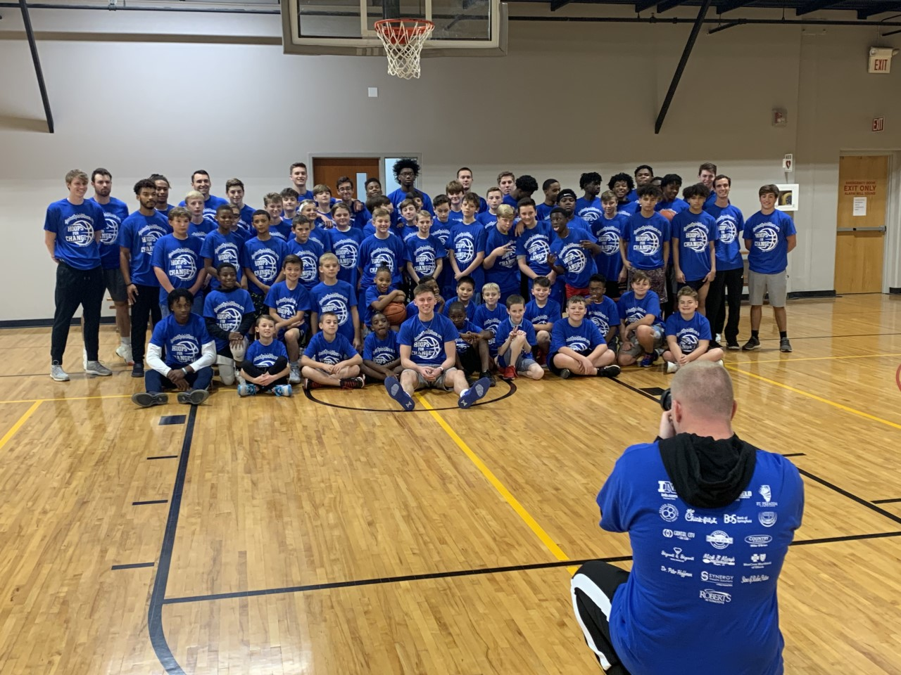 The basketball camp for 5th to 8th graders inspires young athletes to choose a life of positivity
