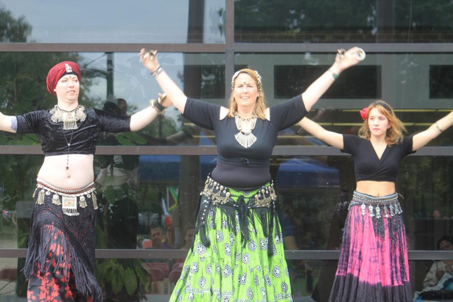 The Lotus Fire Belly Dancers perform at the Multicultural Fest.