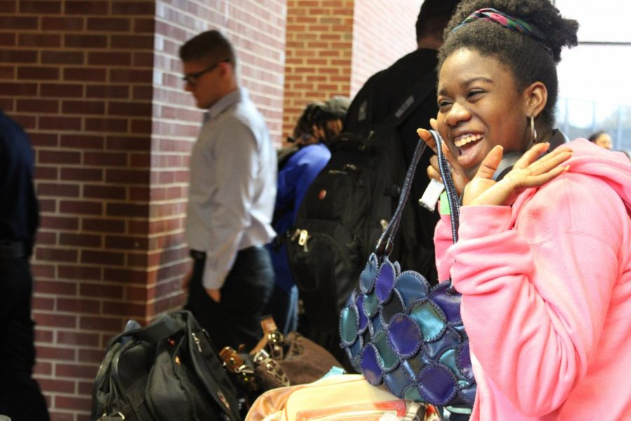 Vendor Day included many black owned businesses that put their items on display for students.