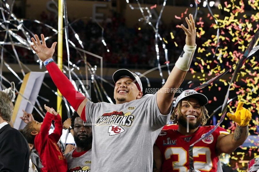 Kansas+City+Chiefs%27+Patrick+Mahomes%2C+left%2C+and+Tyrann+Mathieu+celebrate+after+defeating+the+San+Francisco+49ers+in+the+NFL+Super+Bowl+54+football+game+Sunday%2C+Feb.+2%2C+2020%2C+in+Miami+Gardens%2C+Fla.+%28AP+Photo%2FDavid+J.+Phillip%29